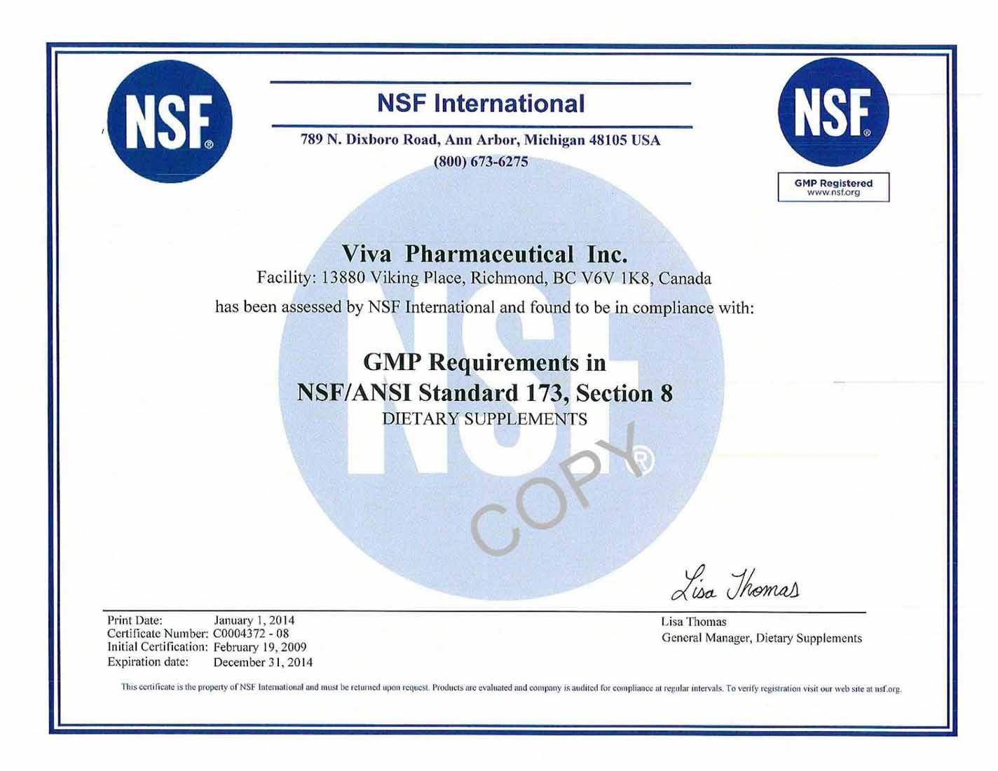 Chứng nhận GMP - tổ chức y tế thế giới WHO sản phẩm boniancol